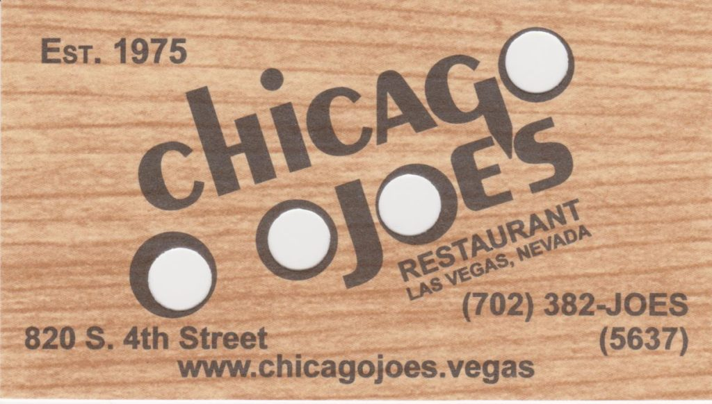 Chicago Joe's in the Book